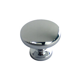 B&Q Chrome-Plated Round Internal Cabinet Knob