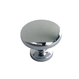 B&Q Chrome-Plated Round Internal Cabinet Knob