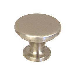 B&Q Satin Nickel Round Internal Cabinet Knob