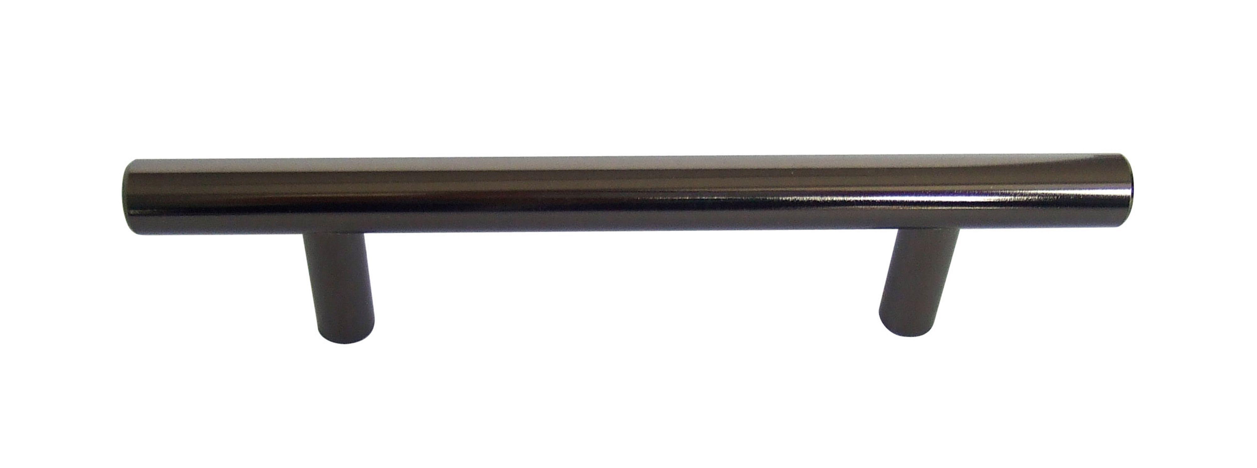 b q black nickel straight interior door pull cabinet. Black Bedroom Furniture Sets. Home Design Ideas