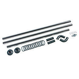 B&Q Silver Effect 5 Way Curtain Rail Kit