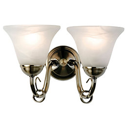 Manor Alabaster Double Wall Light
