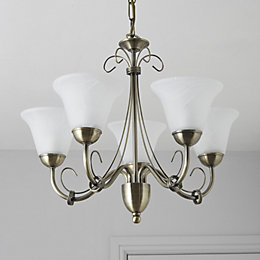 Manor Gold 5 Lamp Pendant Ceiling Light