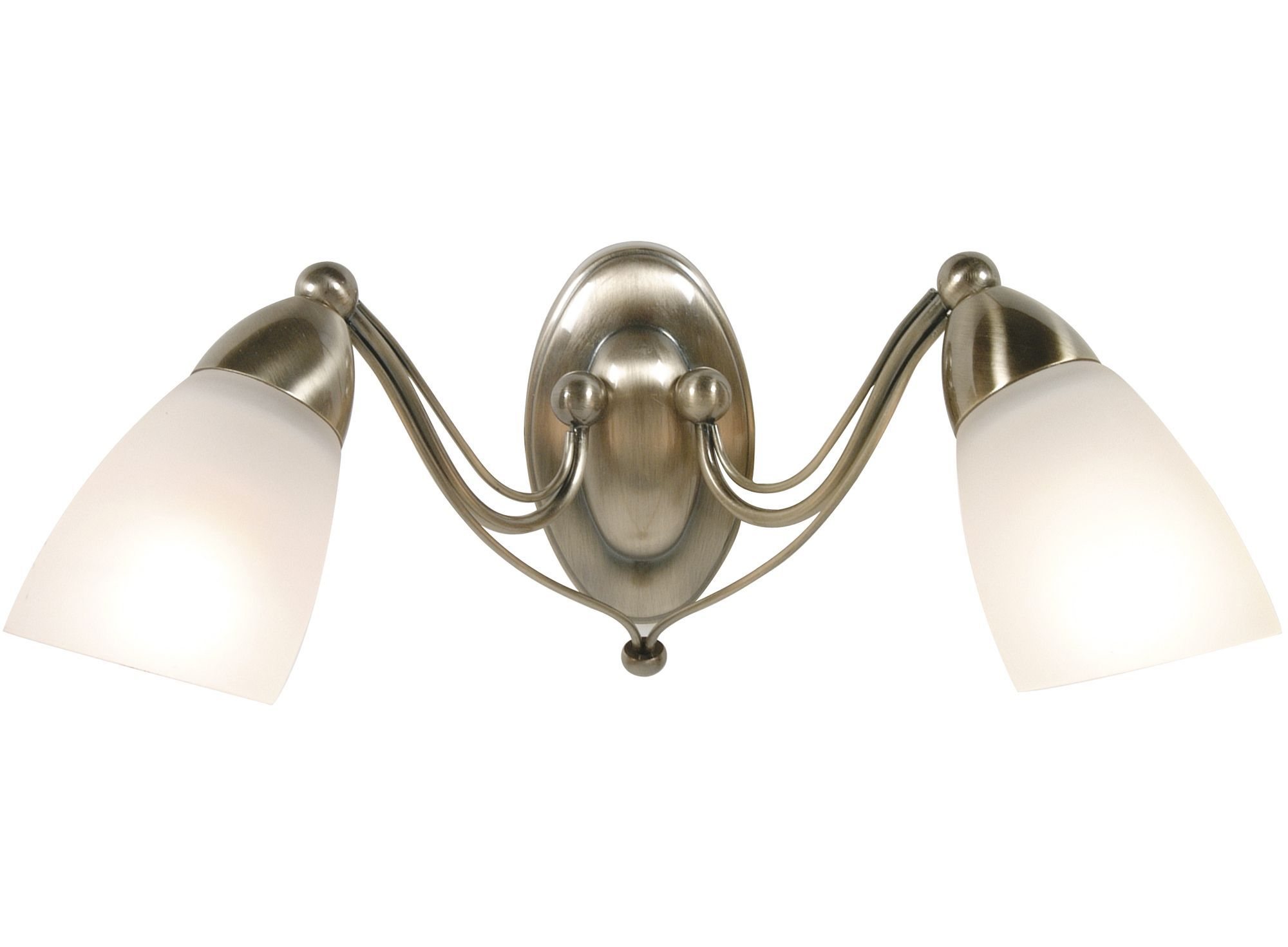 Venus Antique Brass Effect Double Wall Light
