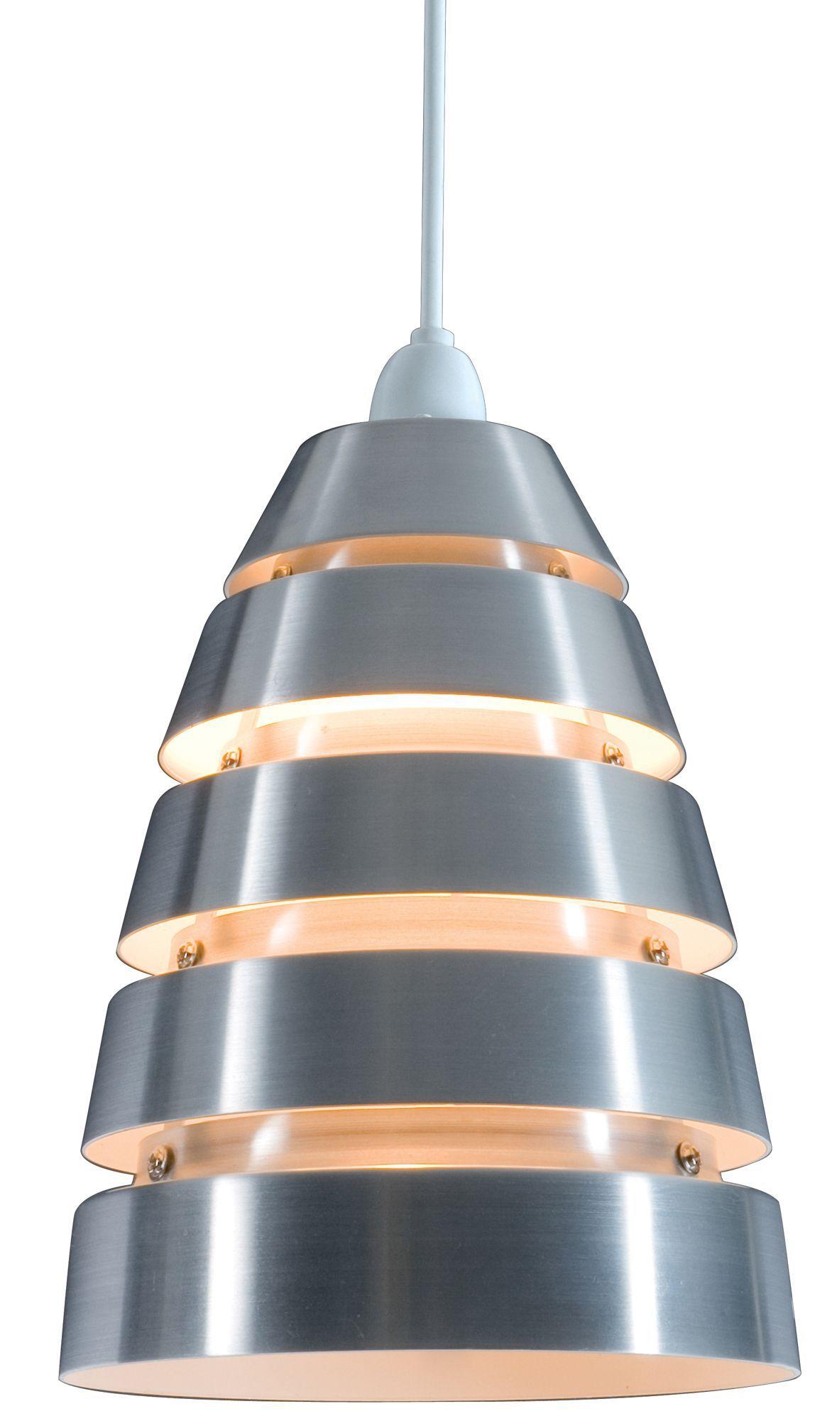 Colours Jet Cream Aluminium Cutaway Pendant Light Shade (d)18cm
