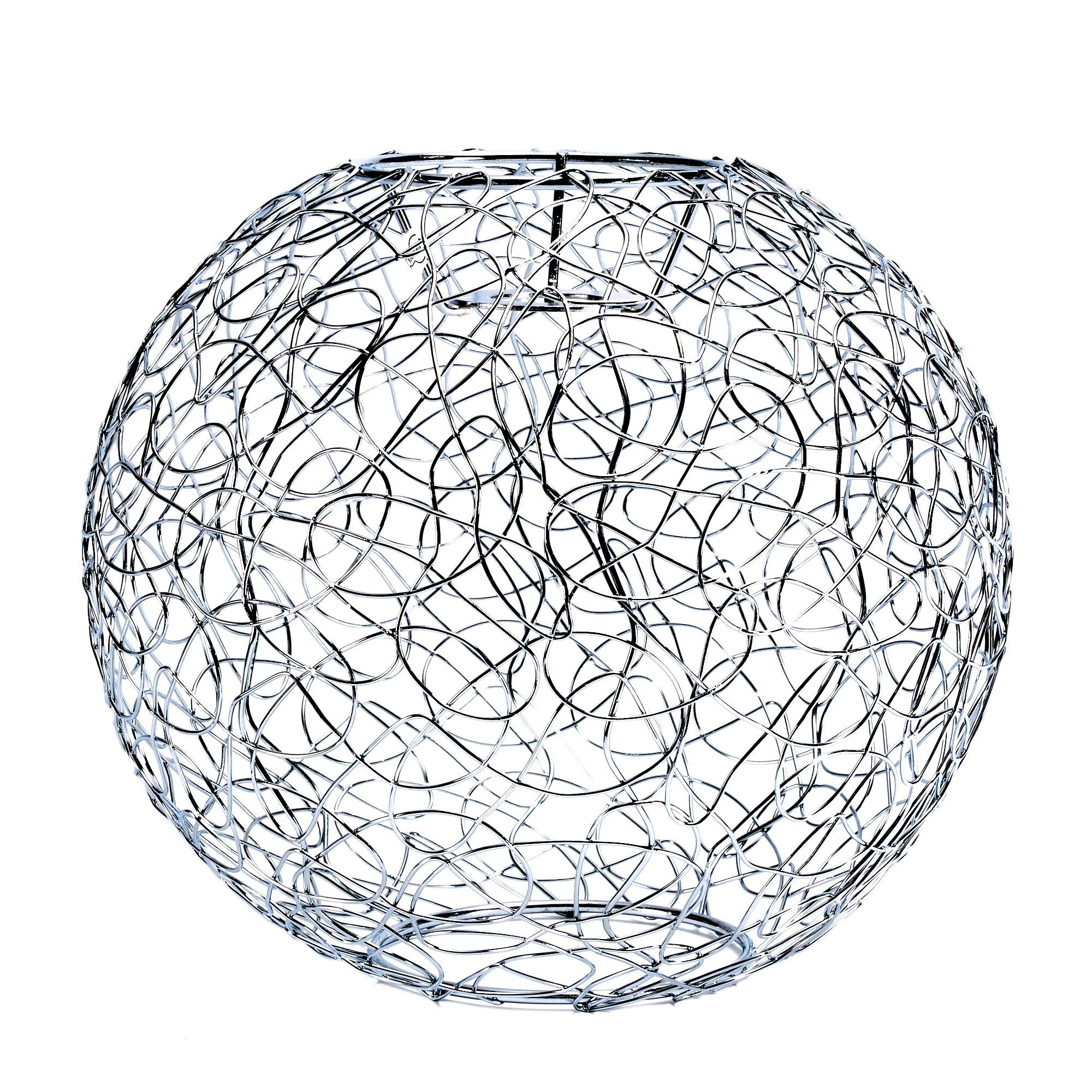 Scribble Silver Lobster Pot Light Shade (d)235mm
