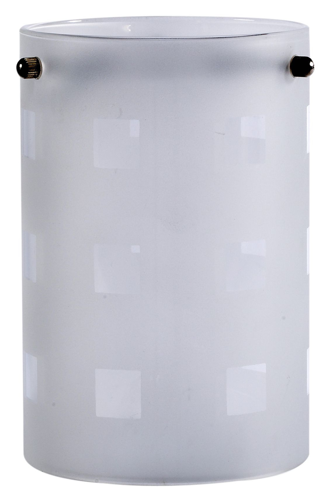 Clear Frosted Etched Cylinder Light Shade (d)110mm