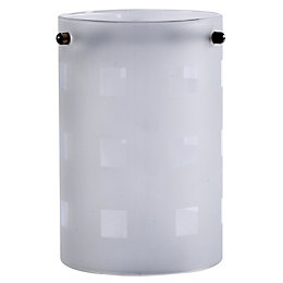 Clear Frosted Etched Cylinder Light Shade (D)11cm