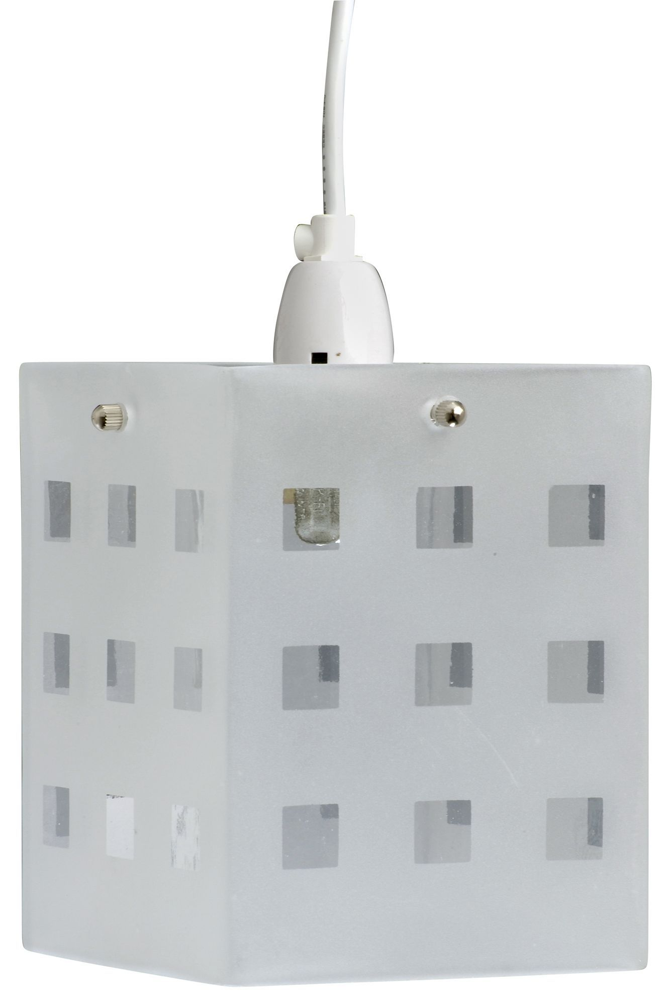 White Frosted Cube Light Shade (d)142mm