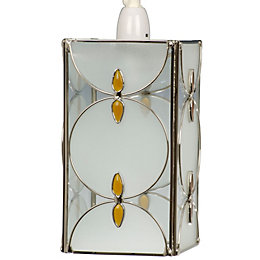 Amber Frosted Tiffany Style Pendant Light Shade (D)15cm