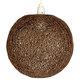 Abaca Chocolate Twine Ball Pendant Light Shade (D)28cm