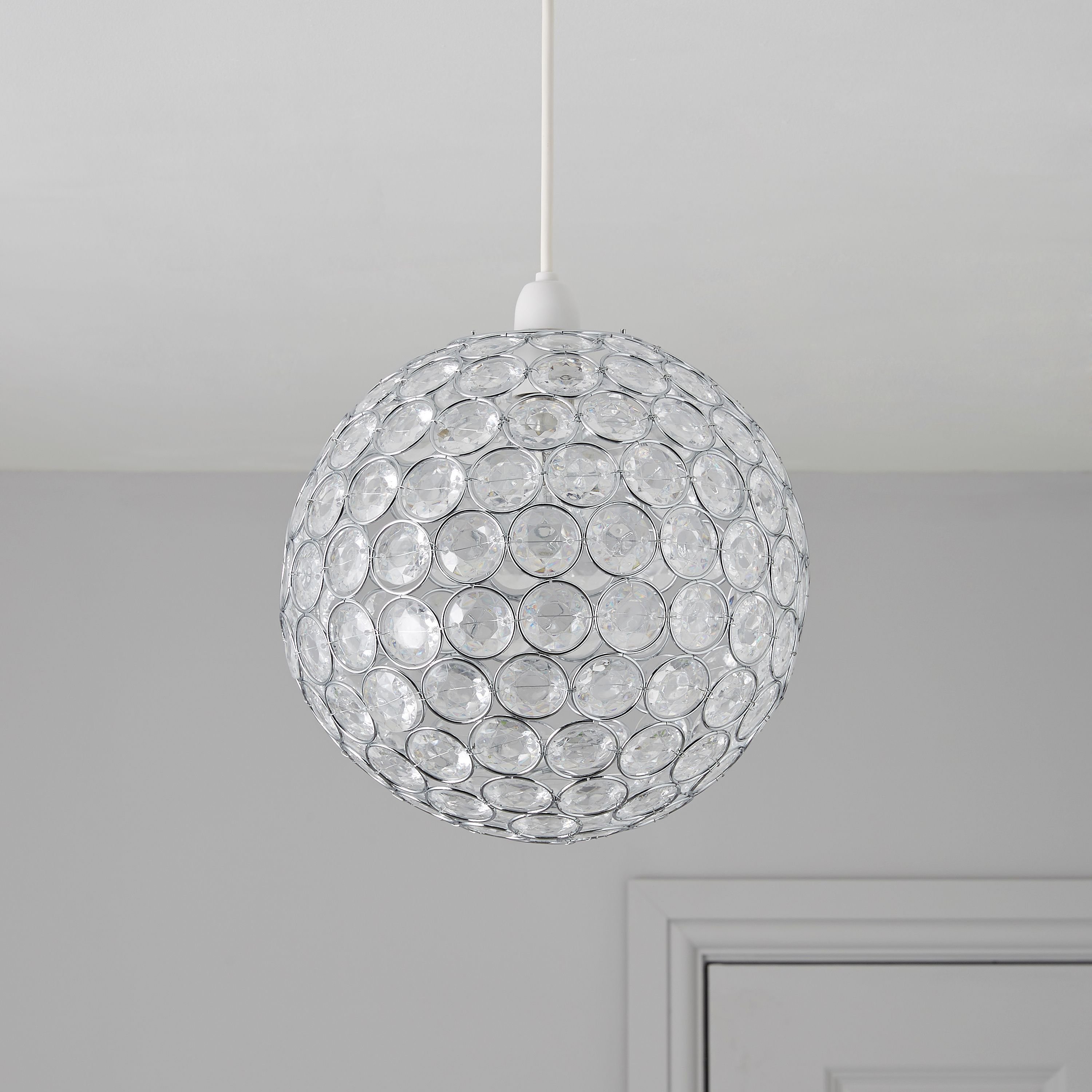 zoe clear effect beaded rings pendant light shade