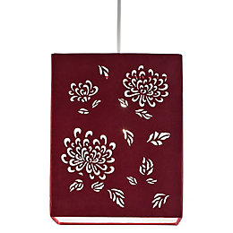 Colours Beryl Claret Floral Laser Cut Light Shade