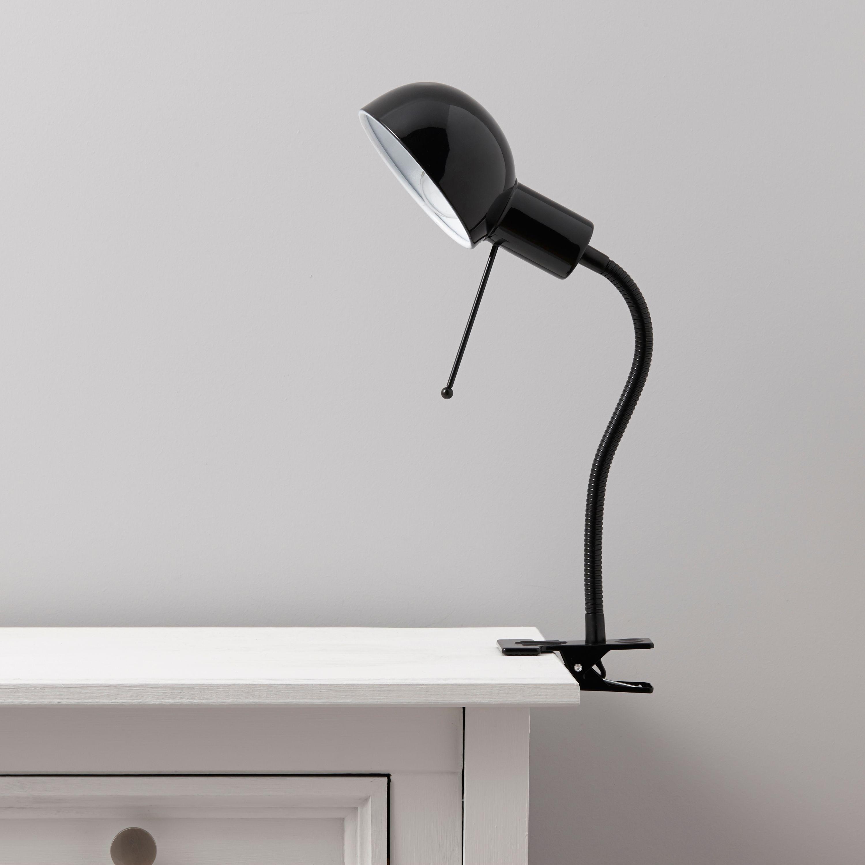 Tutti Goose Neck Black ClipOn Desk Lamp Departments – Desk Lamp Clip on