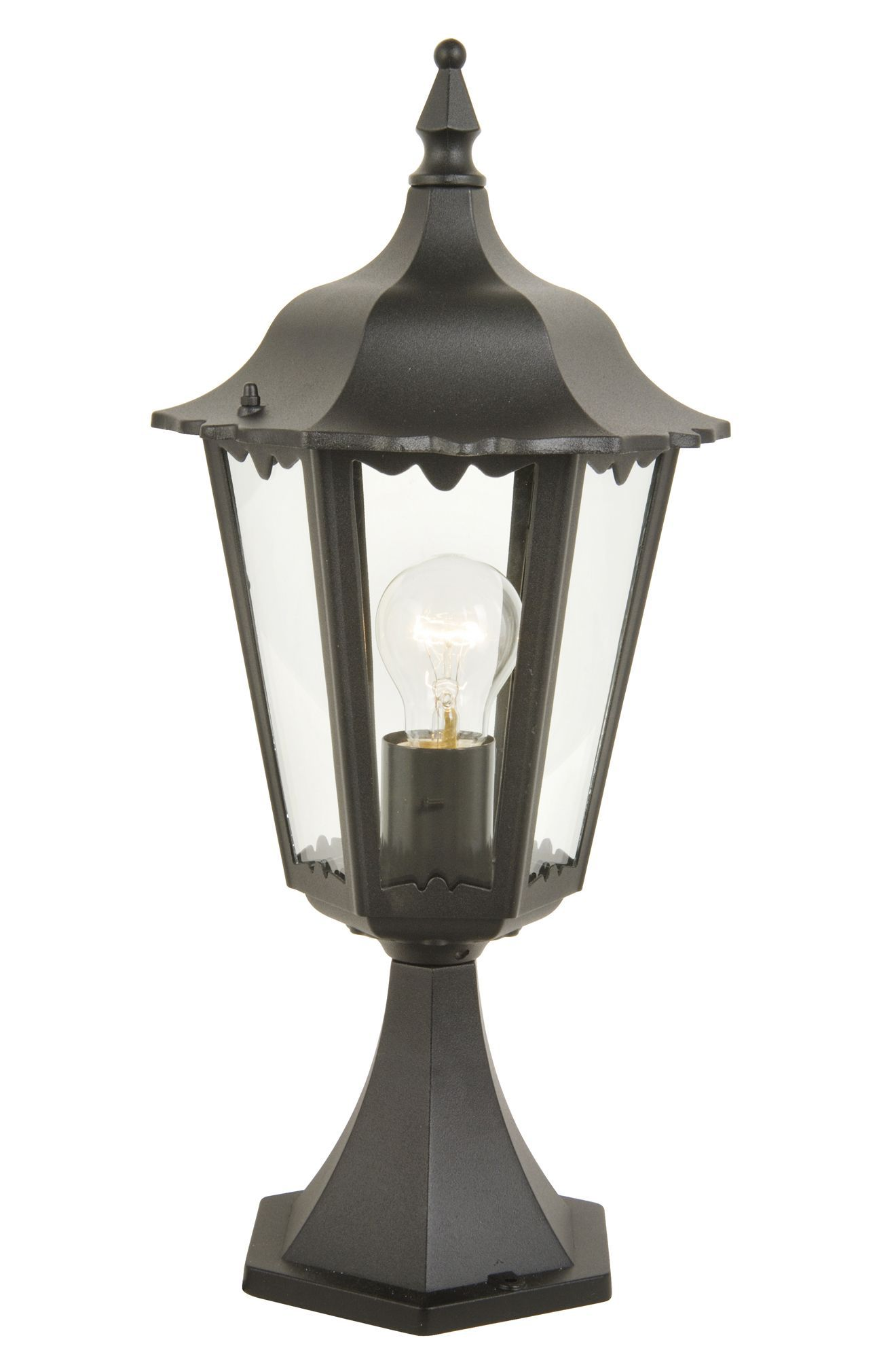 Waterville Black Post Top Light