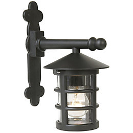 Tavistock Black Mains Powered External Wall Lantern