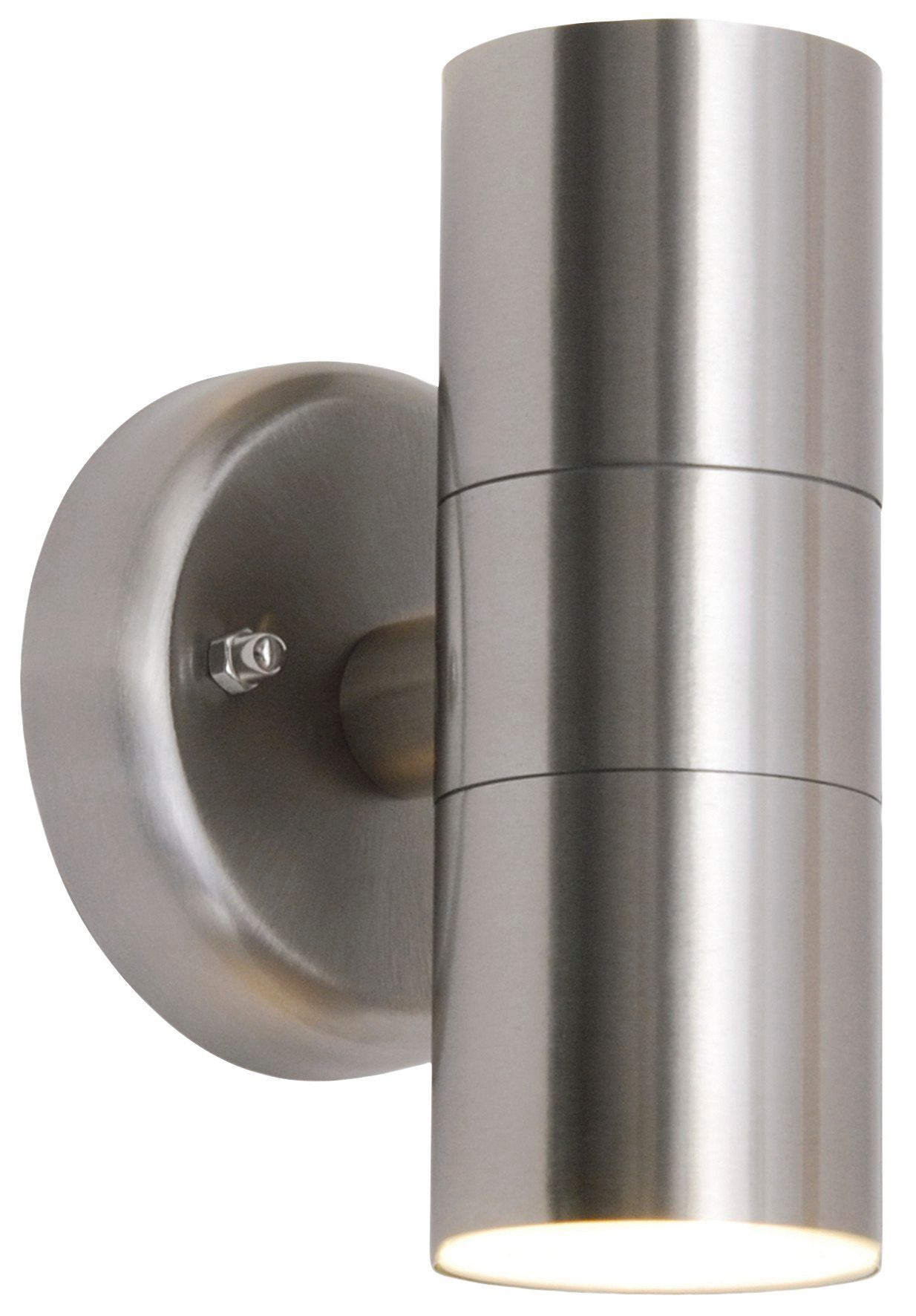 Radius Stainless Steel Mains Powered External Double Spotlight |  Departments | DIY at B&Q