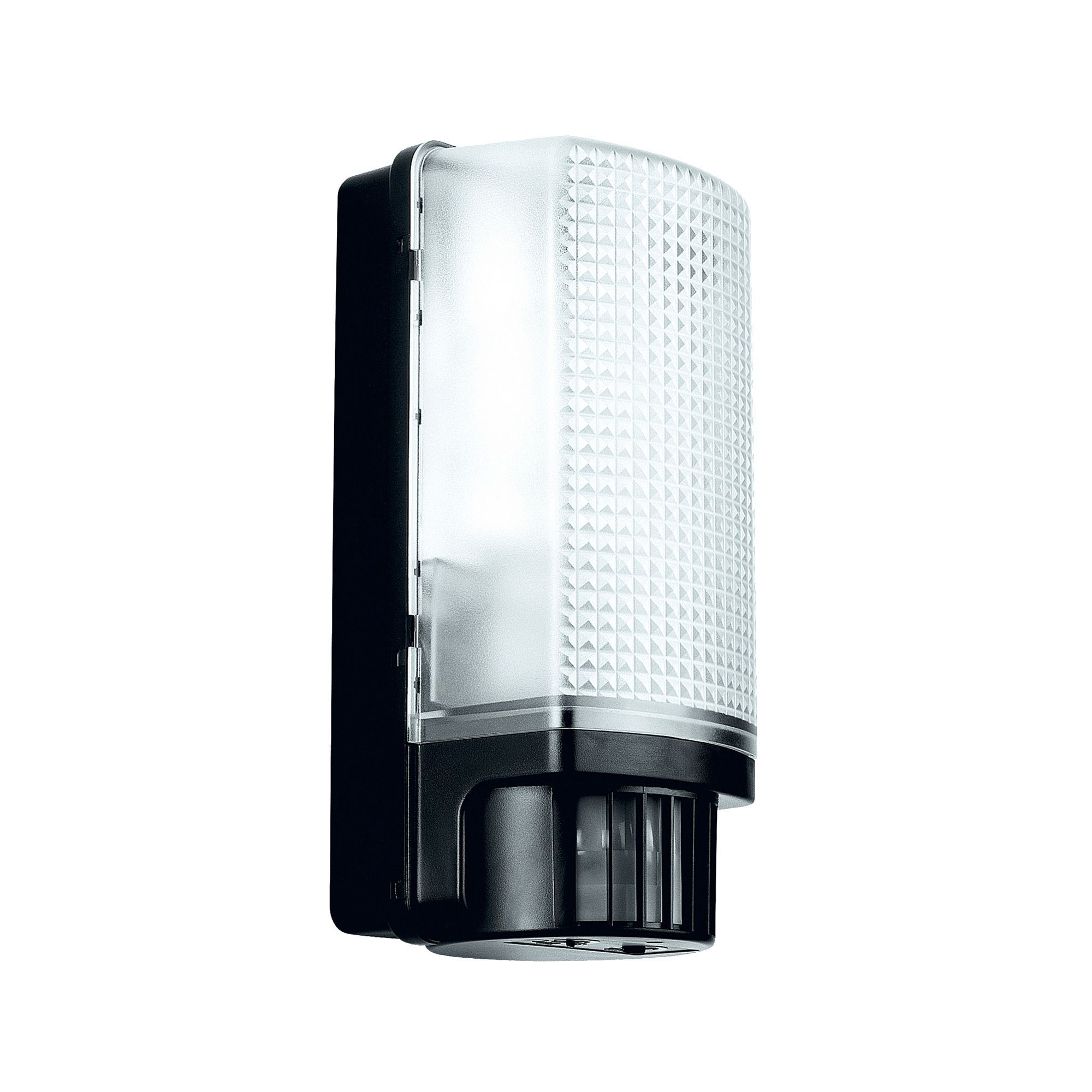 Blooma Larcia Black 60w Mains Powered External Pir Bulkhead Wall Light