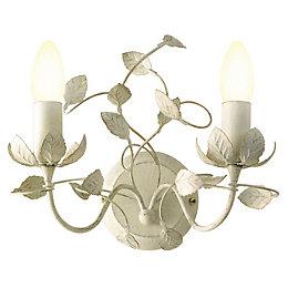 EVA Leaf Cream Double Wall Light