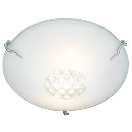 Eros Opal Frosted 2 Lamp Ceiling Light