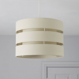 Colours Trio Cream 3 Tier Light Shade (D)35cm