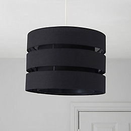 Colours Trio Black 3 Tier Light Shade (D)35cm