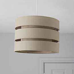 Colours Trio Taupe 3 Tier Light Shade (D)35cm