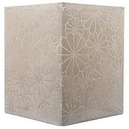 Colours Daisy Beige Laser Cut Light Shade (D)20cm