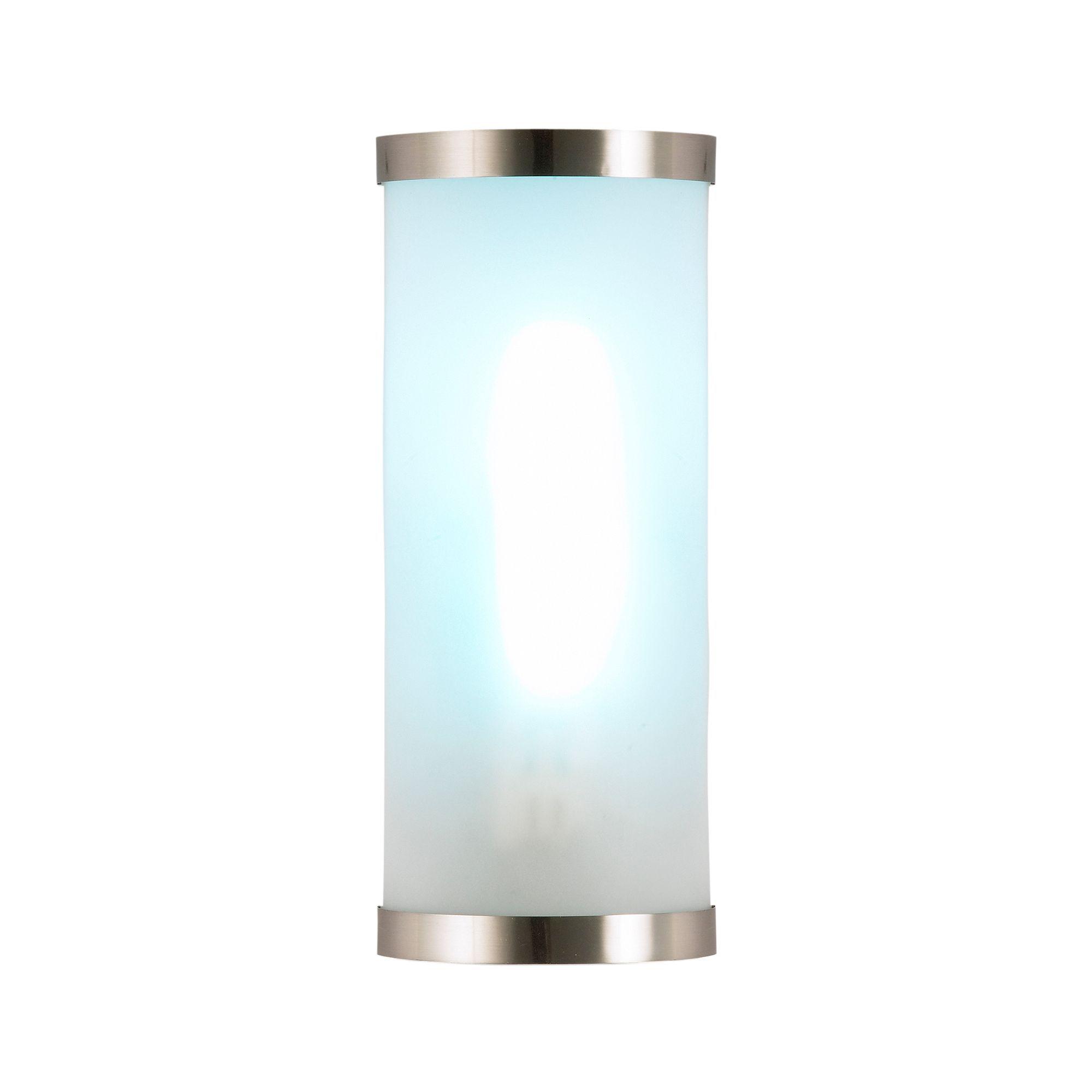 Bain Nickel Effect Cfl Pl Bathroom Wall Light