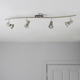 Cirrus Nickel Effect 4 Lamp Bow Spotlight