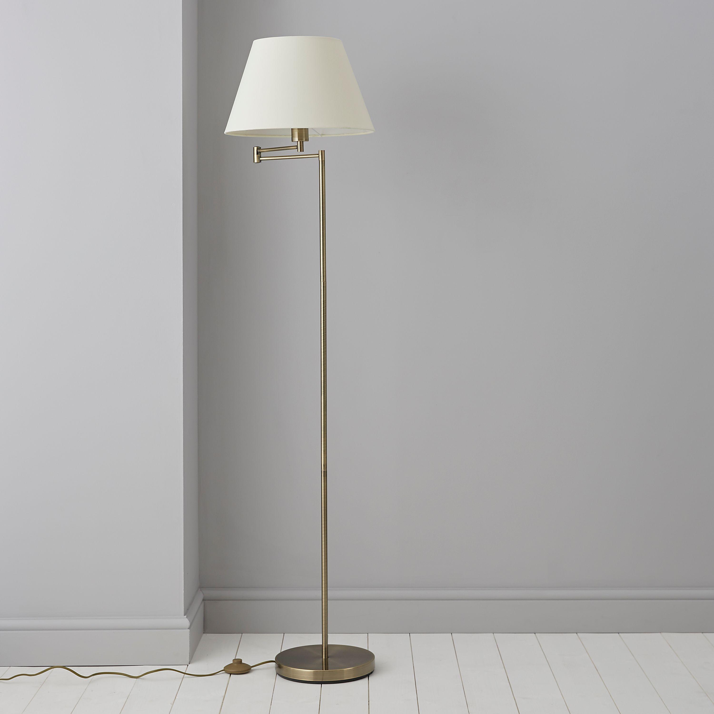 Leamington Gold Floor Lamp Departments Diy At B Amp Q