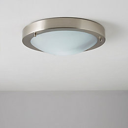Julo Silver Brushed Chrome Effect Ceiling Light