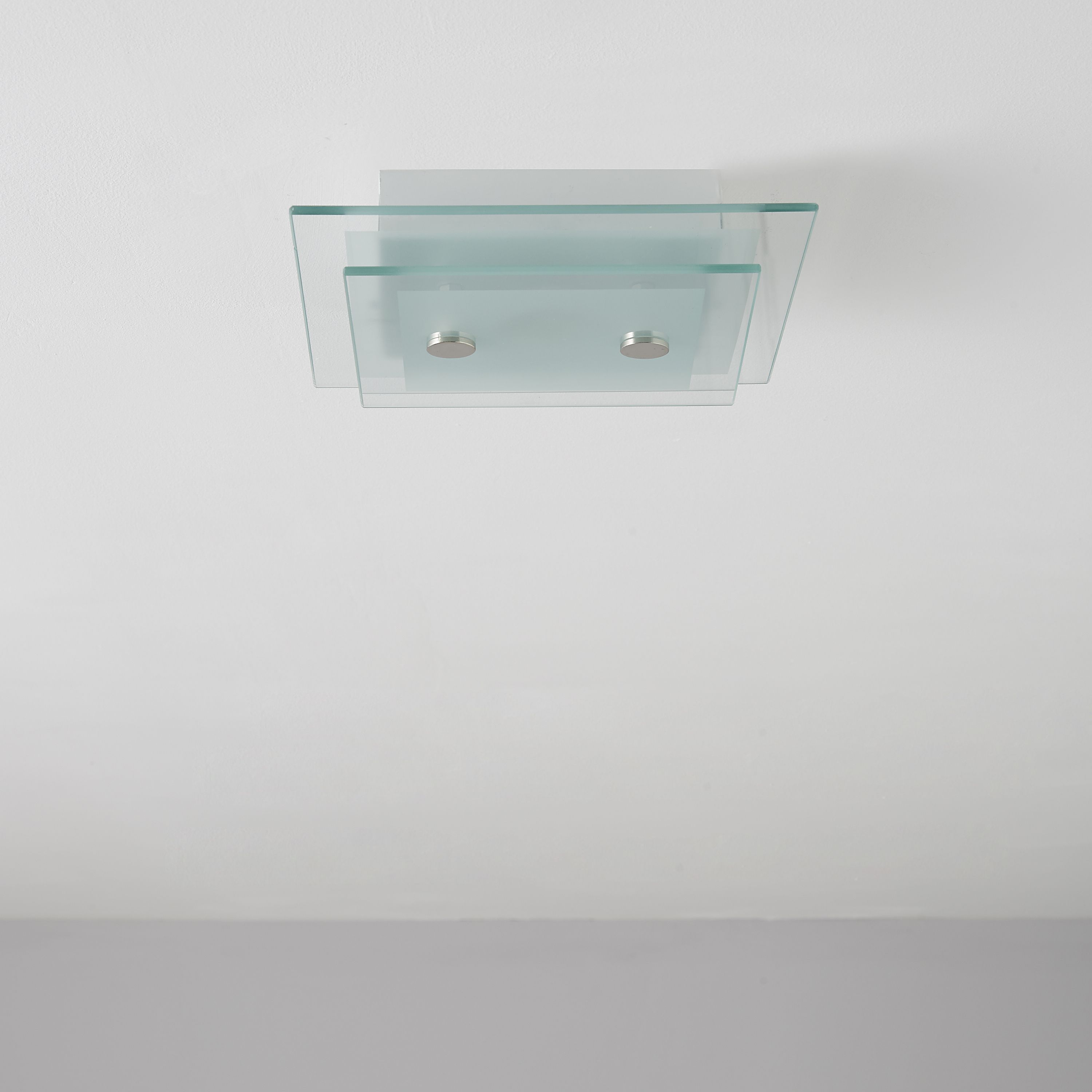 Albera Square Clear Frosted Ceiling Light