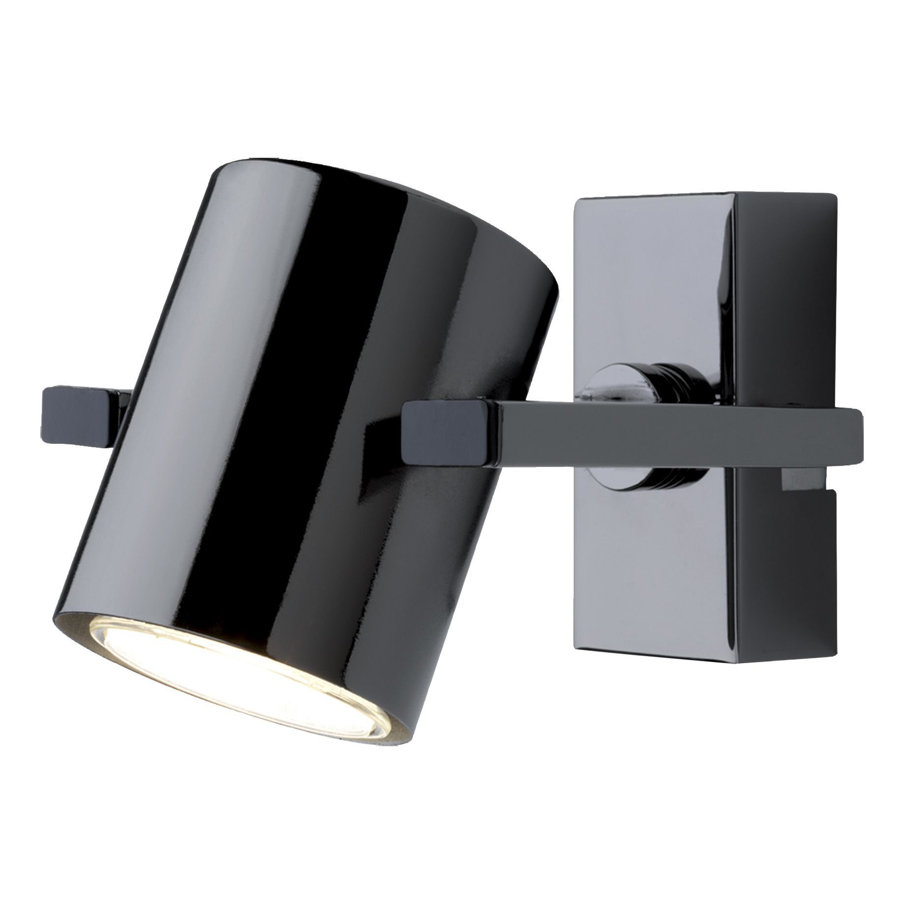 Theatre black nickel effect 4 lamp bar spotlight for B q bathroom lights