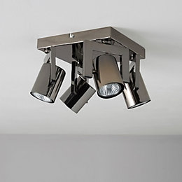 Theatre Black Nickel Effect 4 Lamp Spotlight
