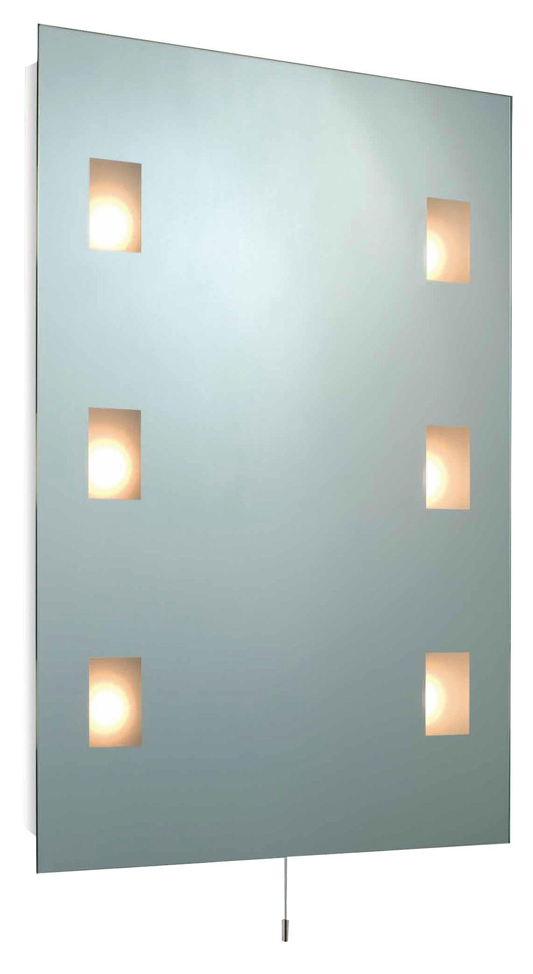 Bathroom Mirror Lights B&Q b&q enlighten illuminated rectangular mirror (w)580mm (h)780mm