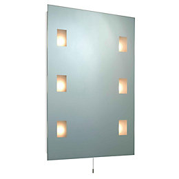 B&Q Enlighten Illuminated Rectangular Mirror (W)580mm (H)780mm