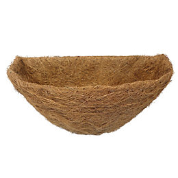 B&Q Brown Natural Fibre Hanging Basket Liner