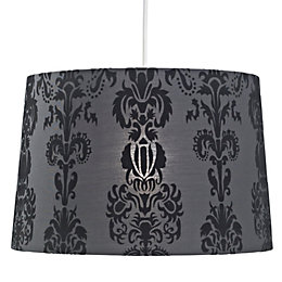 Colours Cerys Black Damask Light Shade (D)13.7cm