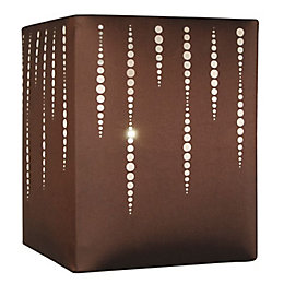Colours Cassandra Brown Laser Cut Light Shade (D)20cm