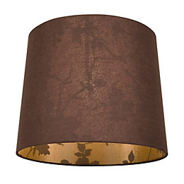 Colours Constance Brown Linen Effect Inner Print Light