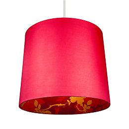 Colours Constance Red Linen Effect Inner Print Light