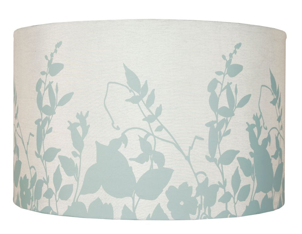 Colours Claudia Duck Egg Floral Silhouette Light Shade D