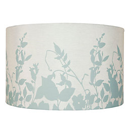 Colours Claudia Duck Egg Floral Silhouette Light Shade