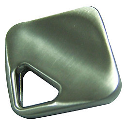 B&Q Satin Nickel Effect Square Furniture Knob, Pack