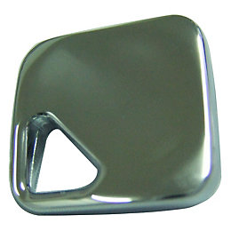 B&Q Polished Chrome Effect Square Furniture Knob, Pack