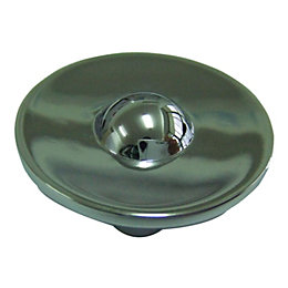 B&Q Polished Chrome Effect Round Furniture Knob, Pack