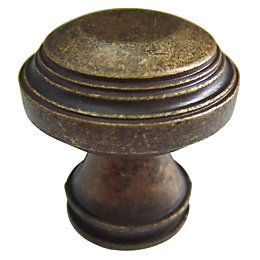 B&Q Bronze Effect Round Furniture Knob, Pack of