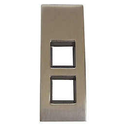 B&Q Satin Nickel Effect Drop Furniture Pull Handle,