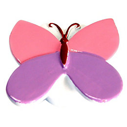 B&Q Multicolour Butterfly Furniture Knob, Pack of 1